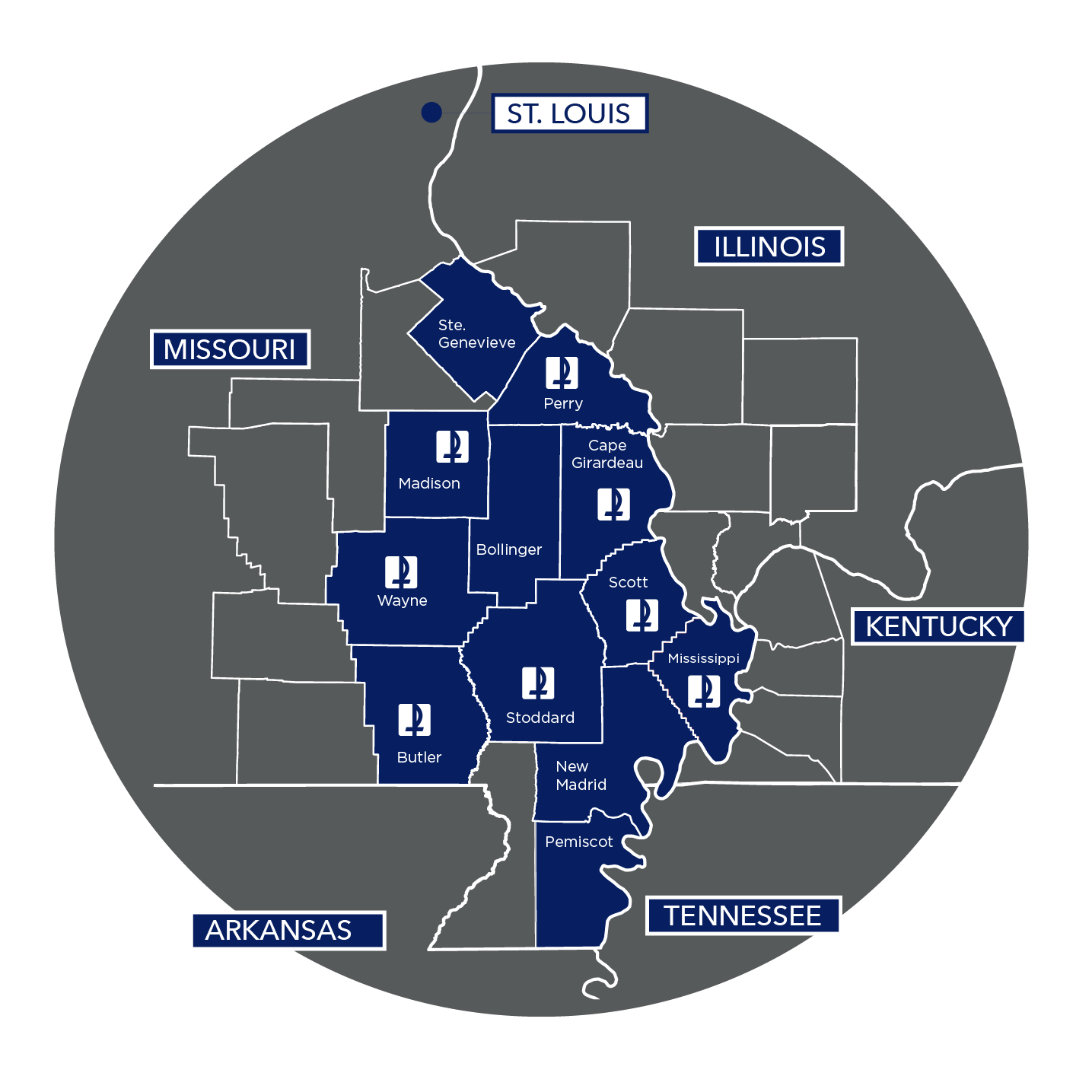 Saint Francis Health Plans Service Area Map