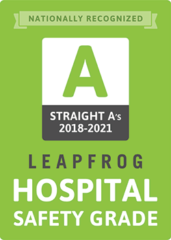 """Saint Francis Medical Center received a """"A"""" Hospital Safety Grade from Leapfrog in Spring 2020"""
